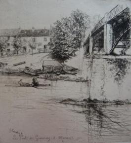 Le Pont De Gournay, De Profil, 1895