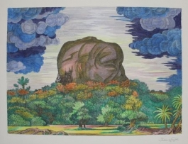 Der Fels Von Sigiriya Bei Tag / The Rock Of Sigiriya At Daytime