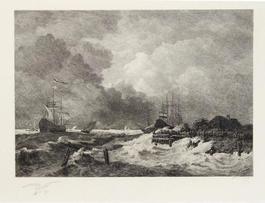 La tempete (The Storm) [with] Brisants, Granville (Breakers, Granville)