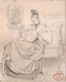 Caroline Richomme cousant (Caroline Richomme Sewing)