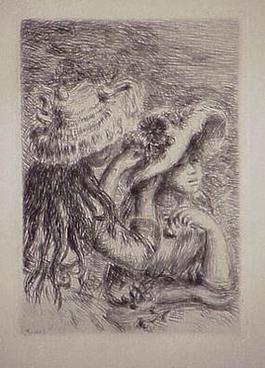 Le chapeau epingle, in Renoir et ses amis