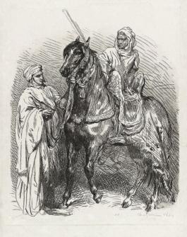 Arabe Montant En Selle / Cavalier Arabe Partant Pour La Guerre, 1849