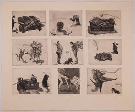 """Domestic Scenes"" (nine plates on one sheet)"