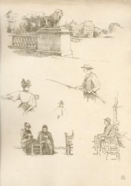 A Paris. Squares Et Jardins. Croquis Lithographiques Par Eugène Béjot., 1896