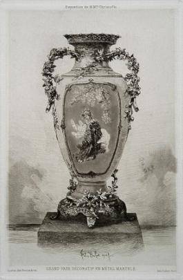 Grande Vase Décoratif, 1880