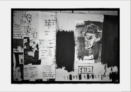 Basquiat, unfinished painting – man with hat, New York, 1983
