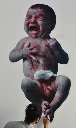 Floating baby number II