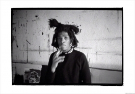 Basquiat smoking, New York, 1983