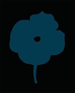 Flowers 07 (Midnight Blue)