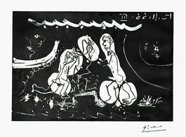 Sous les Feux de la Rampe: Femme Nue Entre Deux Hommes, from 12 Novembre 1966 III
