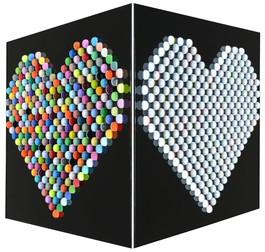 Heart (White/Multi)