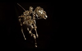 Gold cup Horse and Human skeletons