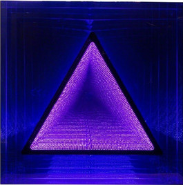 LED coffrage carre ST triangle: bleu / rose