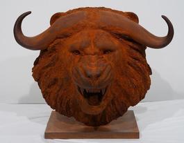 Tete lion-buffle