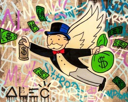 Monopoly wings $ bags spraying gold