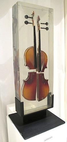 Inclusion de violon decoupe