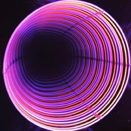Neon Infinity Circle : rose / orange