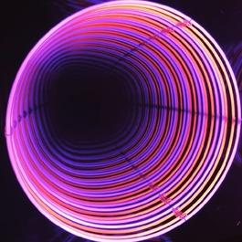 Neon Infinity Circle: Rose / Orange