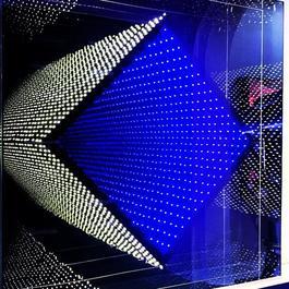 LED carre losange jaune et bleu