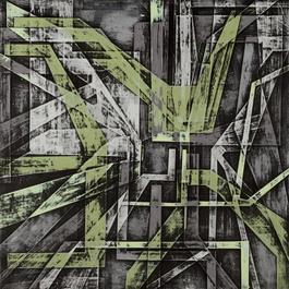 Grinder Painting 13 (Green Grey)