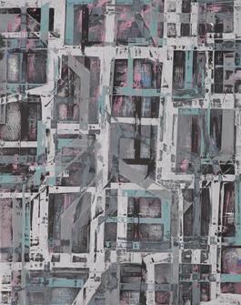 Grinder Painting 17 (Pink Grey)