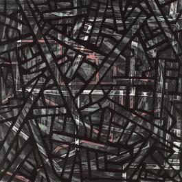 Grinder Painting 14 (Black Web)