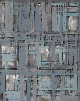 Grinder Painting 20 (Grey Blue)