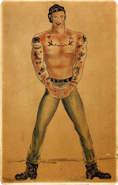 sam Steward [Phil Sparrow] - Tattooed Man