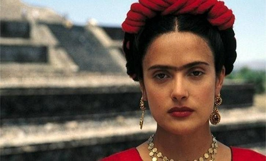 001 Selma Hayek as Frida Kahlo in the biopic Frida (2002)