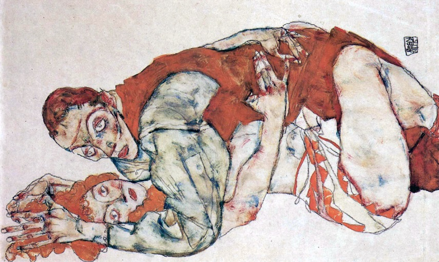 the word Schiele is often associated with erotic art