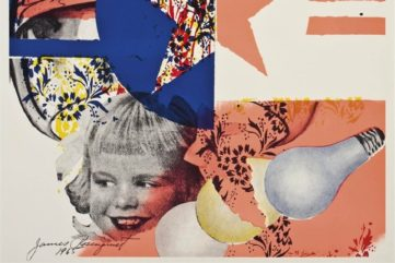 Rosenquist's pop prints were available in an extremely limited print and are now in high demand print.