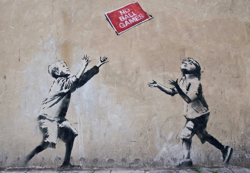 Banksy is currently one of the most famous British artists not just of street art but in general
