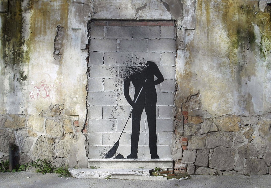 Minimalist artists in the world of street and urban art for Minimal artiste