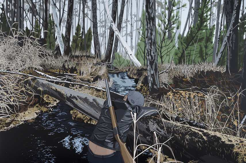 03 Chen Fei – Inexpedient Hunter, 2014 – acrylic on linen – Courtesy of Galerie Urs Meile, Beijing-Lucerne