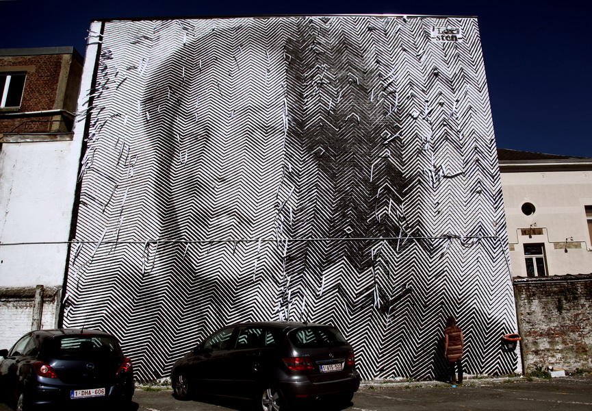 Sten and Lex are Italian artists known for their large scale stencil art