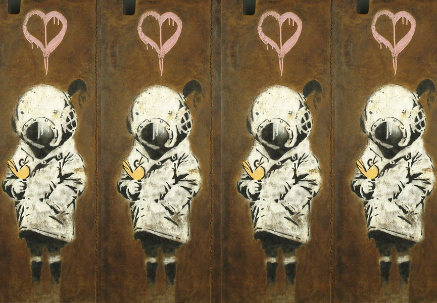 Banksy artworks increased their price at auctions over the course of time