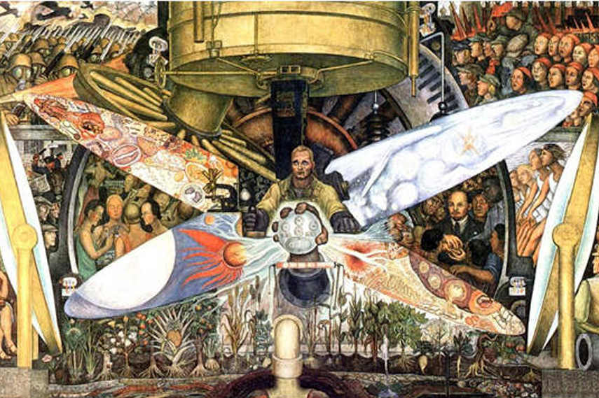 Diego Rivera - Man- Controller of the Universe 1934 - Image via Jinawallwork blogspot com