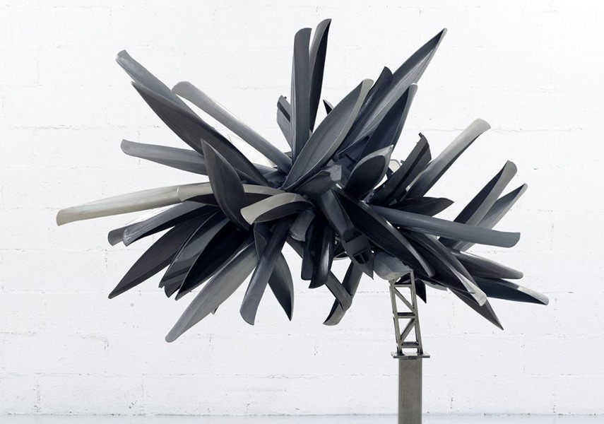 1 Nancy Rubins Study Model (Monochrome for Paris) 2012 Painted wood model, epoxy putty and steel armature