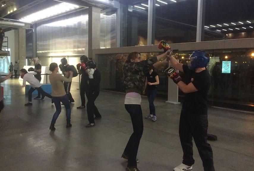 Self-defence workshop at the Garage museum