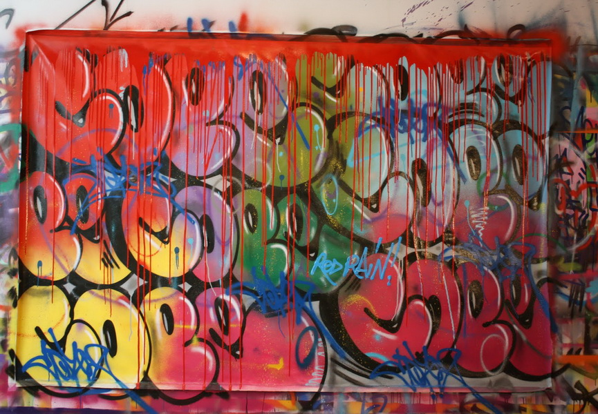 Cope2 creates signature bubble graffiti art letters