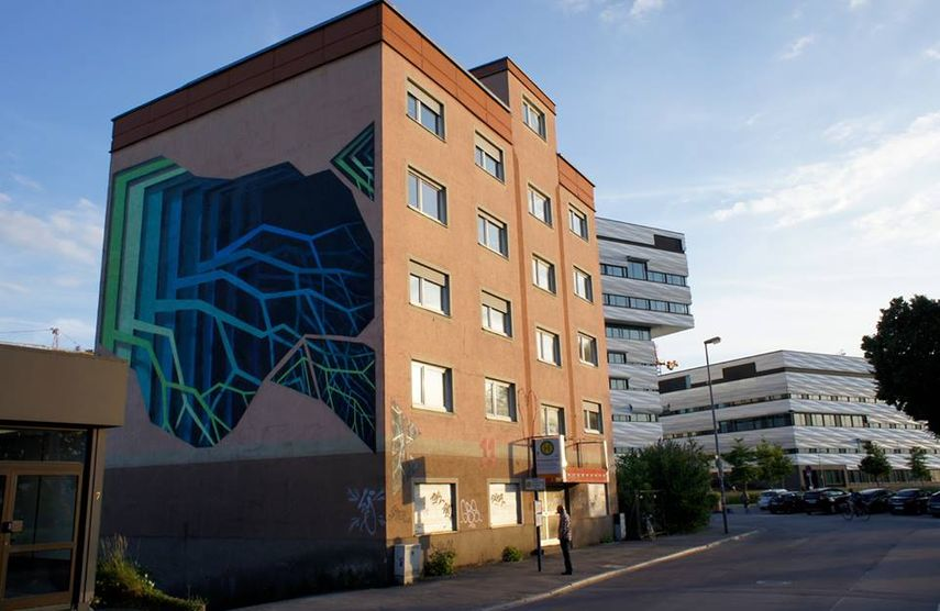 Mural by 1010 in Heidelberg
