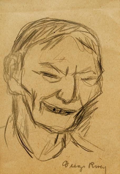 Diego Rivera-Viejo sonriente-