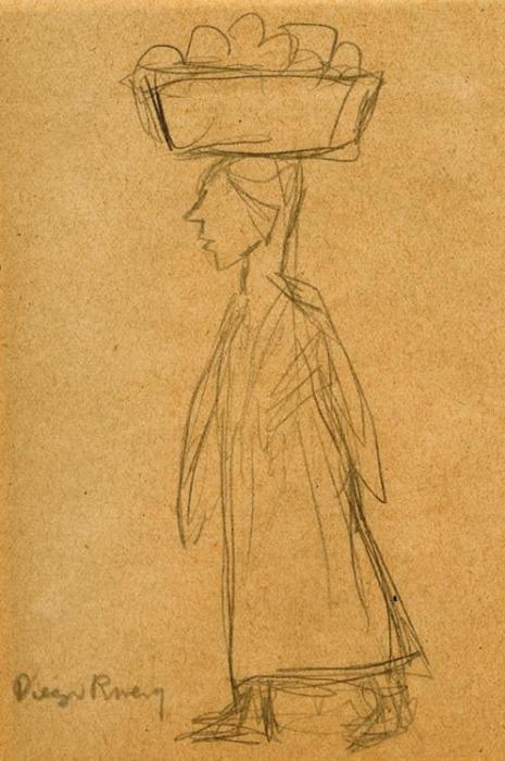 Diego Rivera-Mujer cargando-