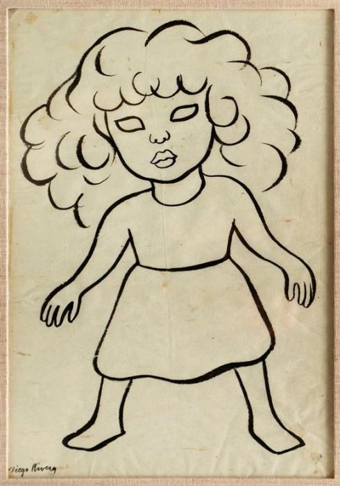 Diego Rivera-Nina-1940