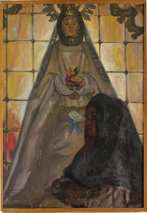 Diego Rivera-La Virgen de la cabeza Avila-1908