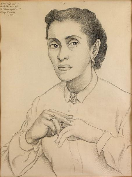 Diego Rivera-Retrato de Celia Garduno-1954