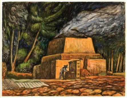 Diego Rivera-Horno para cocer tabique-1935