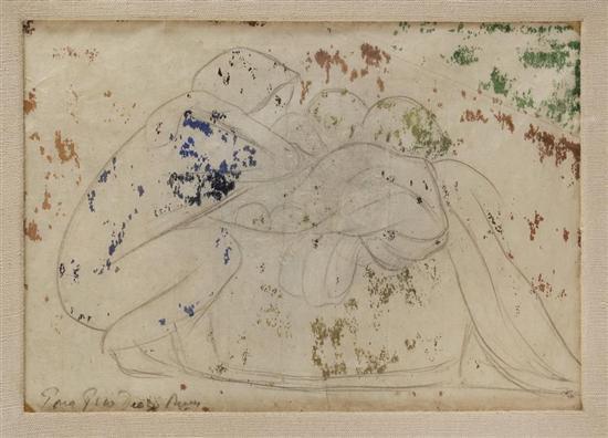 Diego Rivera-Sin titulo (Apunte de pareja)-