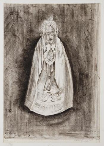 Leonora Carrington-The rabbi, de la serie The Dybbuk-
