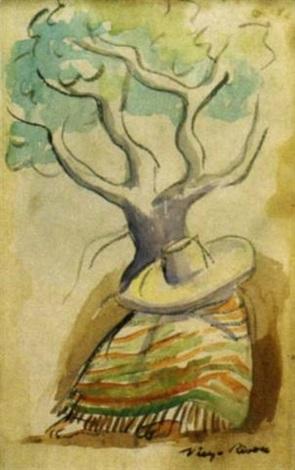 Diego Rivera-Indio tomando una siesta-